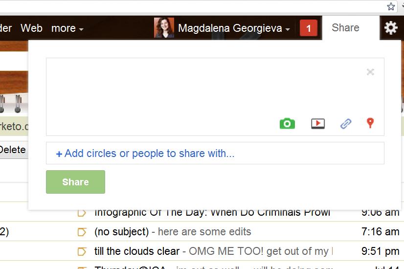 sharing via google