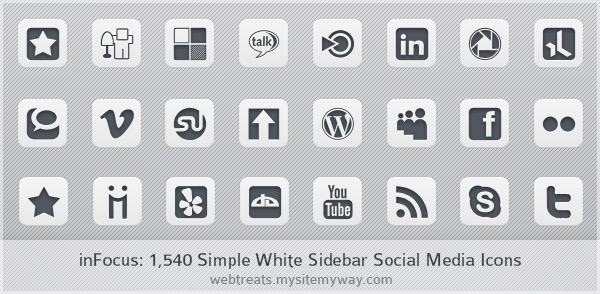simple white icon set