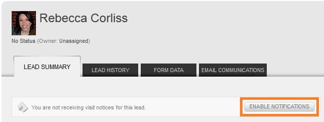 site return notifications
