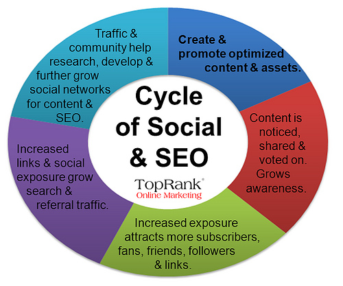 social media and seo cycle