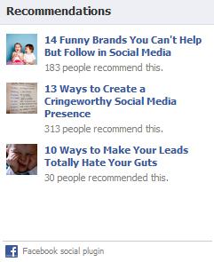 social recommendation widget
