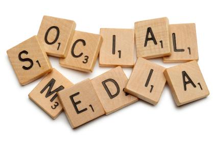 social media scrabble pieces