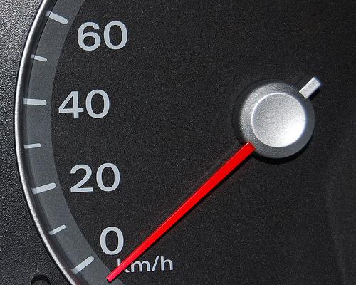 speeding up