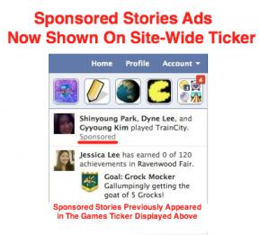 sponsored stories in ticker