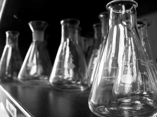 testing beakers