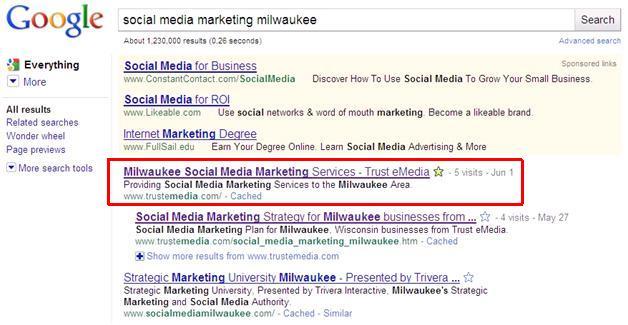 Trust eMedia search results