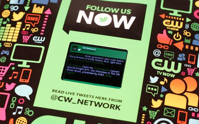 tweets in magazine video