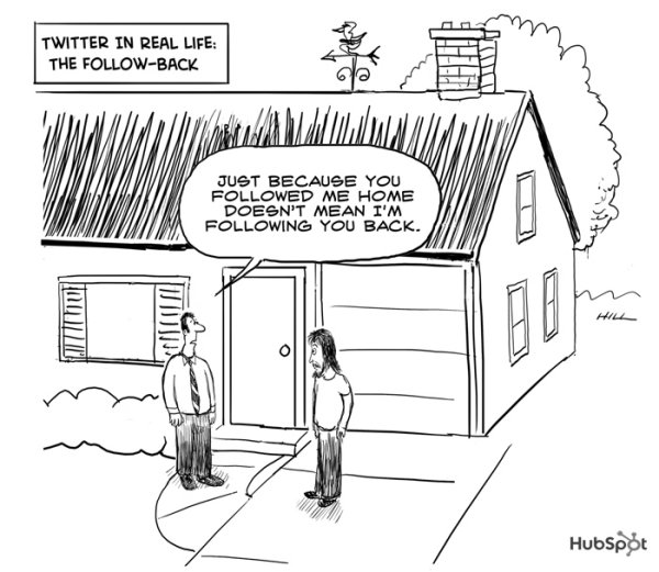 Twitter In Real Life: The Follow-Back [cartoon]