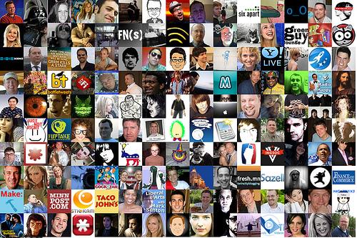 twitter follower mosaic