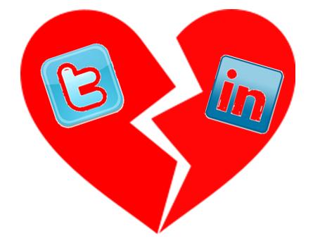 twitter linkedin break partnership