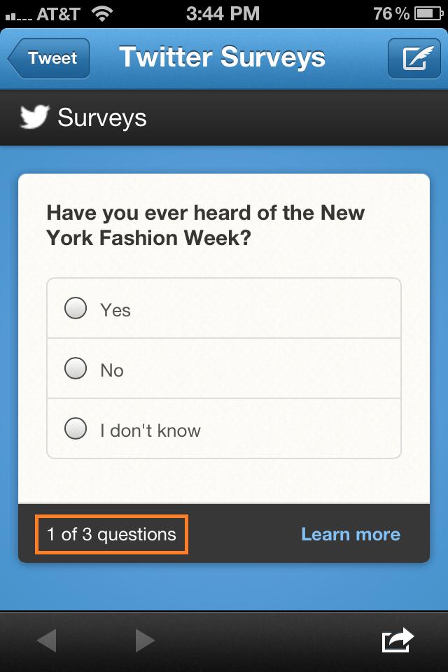 twitter surveys tweet
