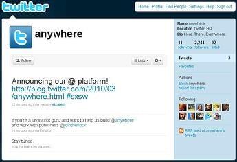 Twitter @Anywhere