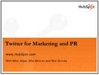 twitter for marketing and pr