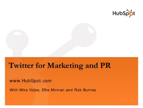 Twitter for Marketing and PR Webinar