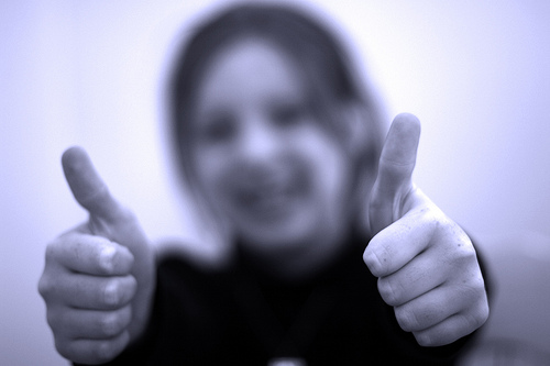 two thumbs up