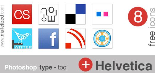 typography icon set