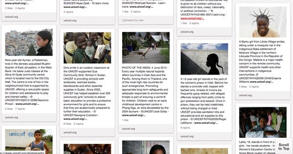 UNICEF Pinterest