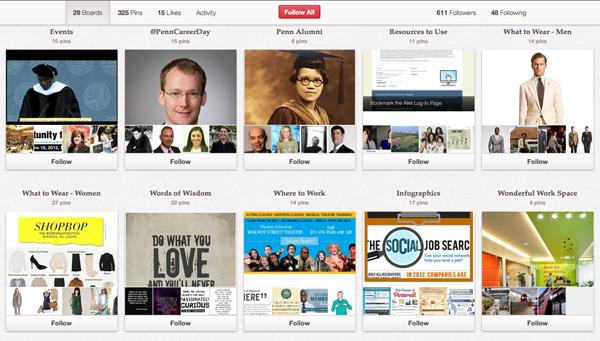 UPenn Career Services Pinterest