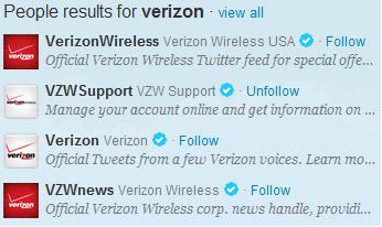 verizon twitter accounts