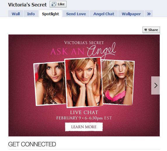 Victoria Secret Facebook Fan Page
