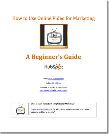 Free eBook: How to Use Online Video for Marketing