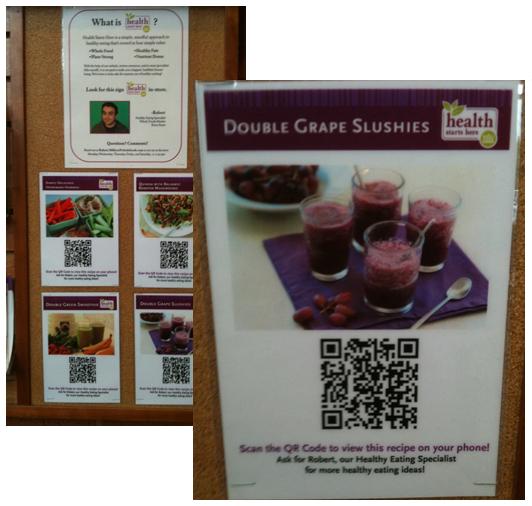 whole foods recipe qr code
