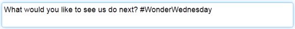 wonder wednesday