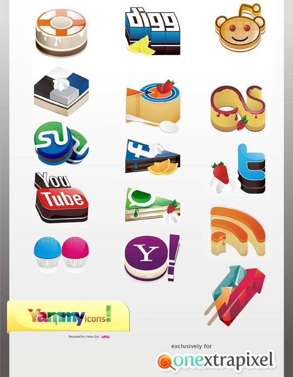 yammy icon set