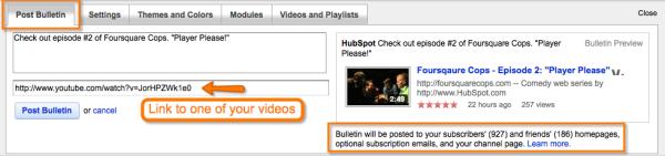 YouTube Bulletin