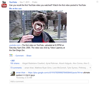 YouTube Google+ Page