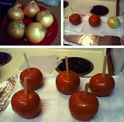 Caramel onions office prank