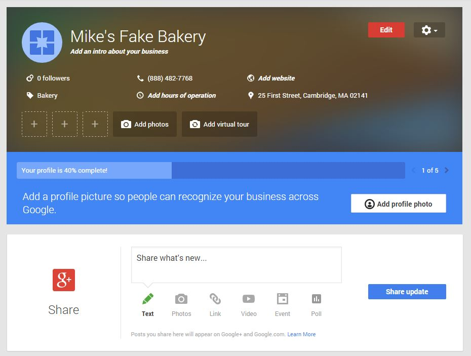 mike-fake-bakery-google-plus-page