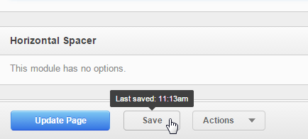 Saving Changes