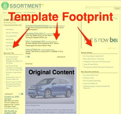 seomoz templatefootprint