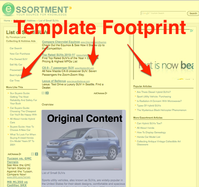 seomoz templatefootprint
