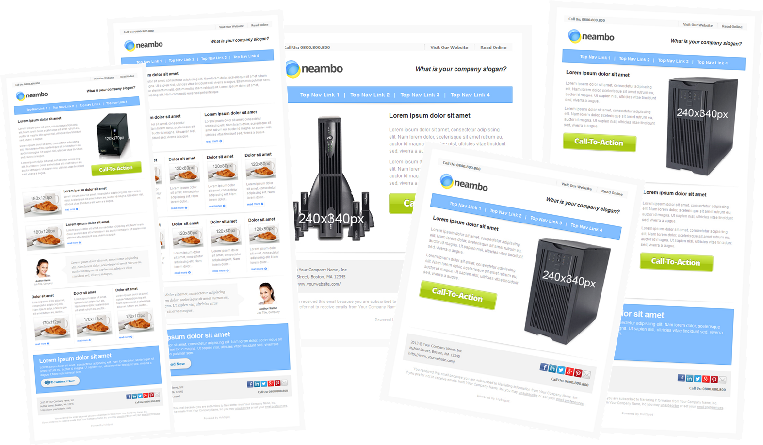 template email marketing free