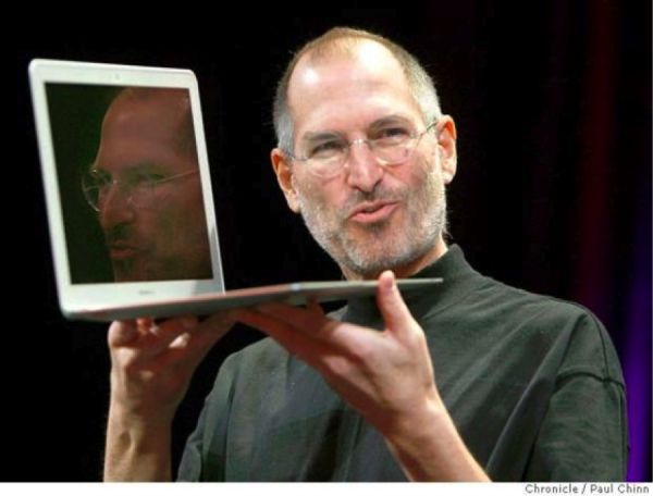 Steve Jobs introduces the MacBook Air