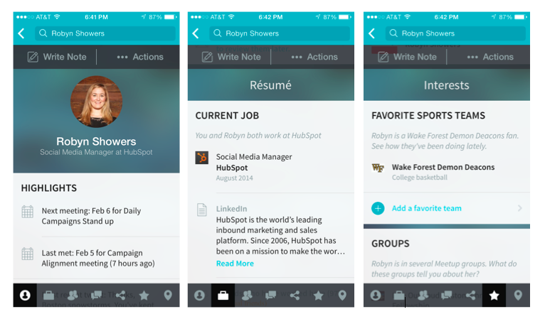 Use the Refresh app to gain insight about your interviewer.