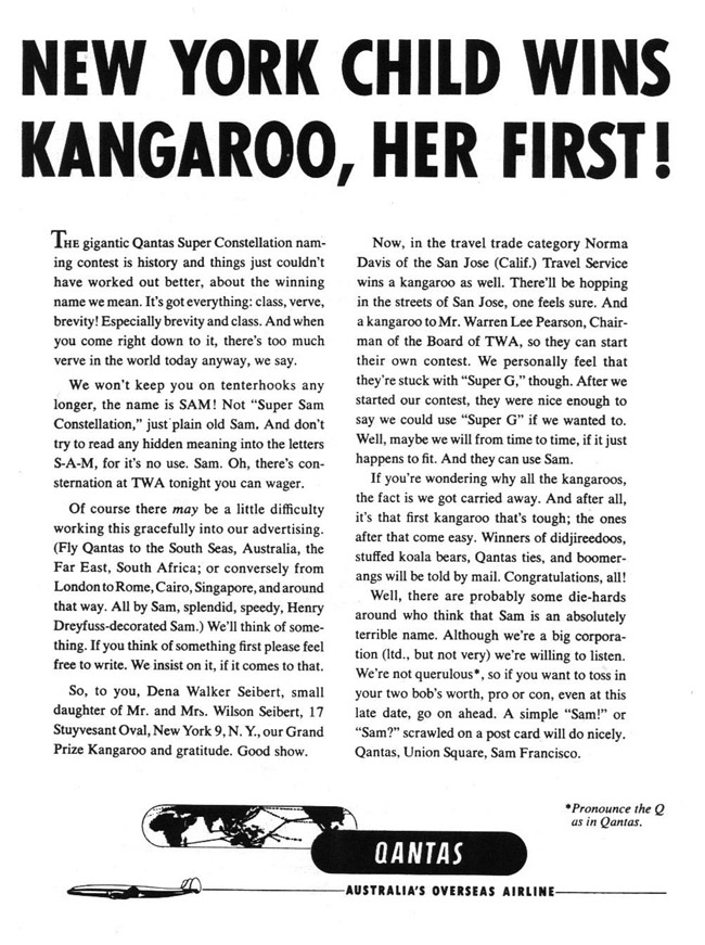 Qantas-child-wins-kangaroo-gossage
