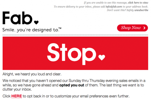 How Opting People OUT Can Actually Improve Your Email Marketing