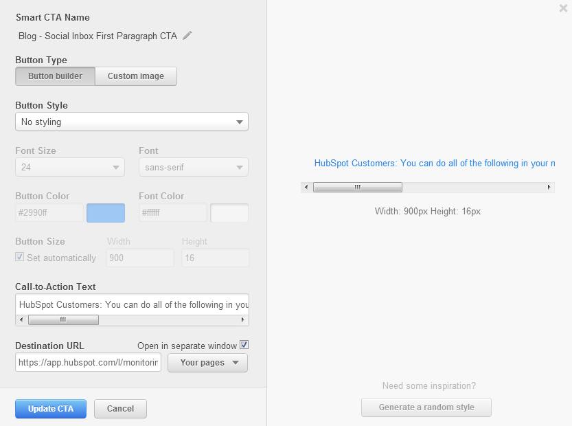 social-inbox-text-cta-setup