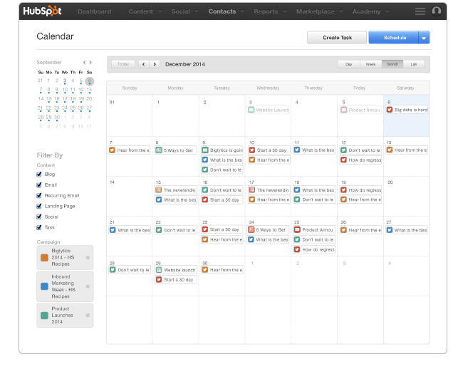 Google Marketing Tools Google calendar