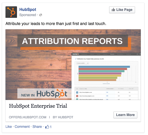 Example of paid retargeting