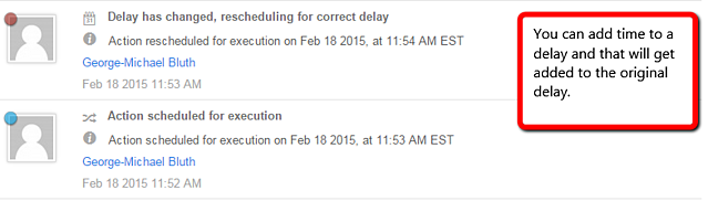 You can add time to a delay