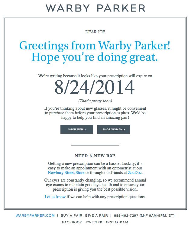 marketing email sample
