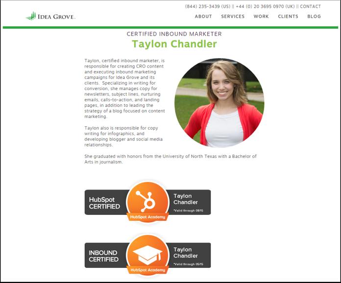 ideagrove-certification-bio-page