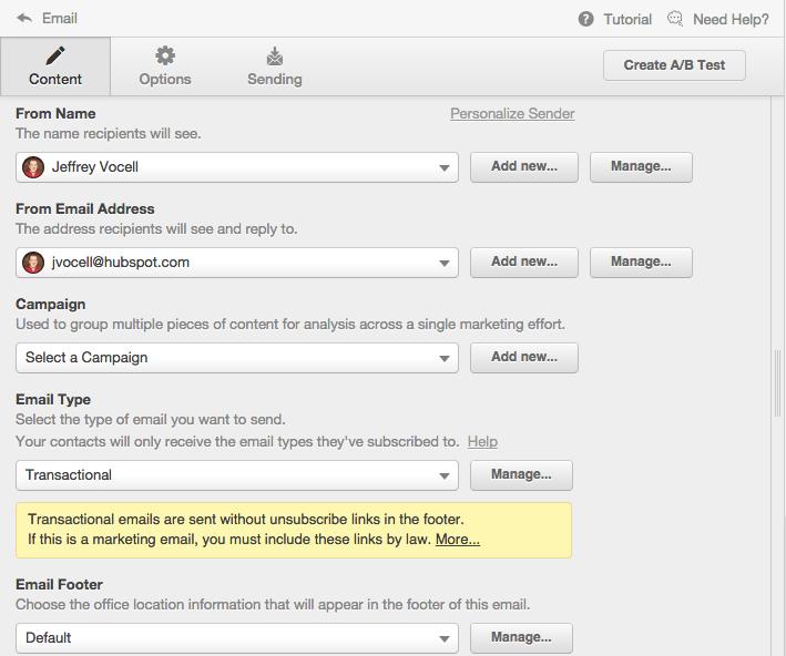 Transaction-Email-HubSpot