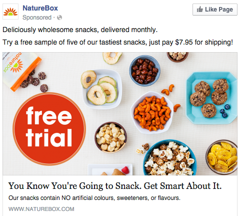 Facebook photo ad by NatureBox