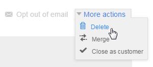 Delete a contact