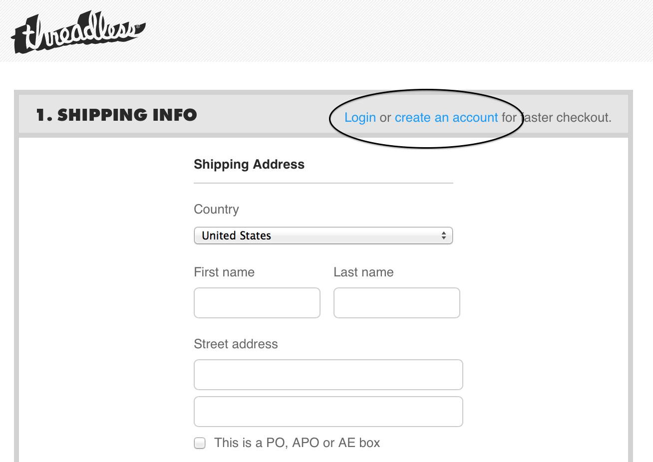 Optional registration example